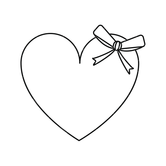 Cane drawing heart. Bow line at getdrawings