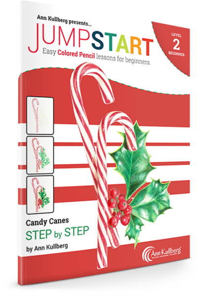 Cane drawing pencil. Jumpstart level candy canes