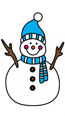 Vector snowman drawing. How to draw a