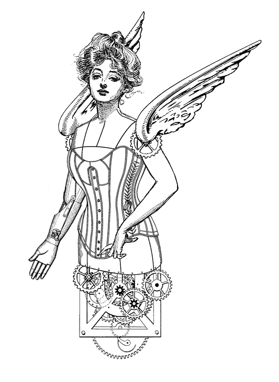 Cane drawing steampunk. The sum of all