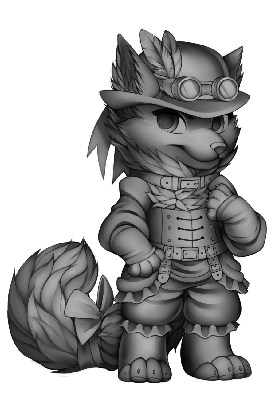 Cane drawing steampunk. Image fox base png