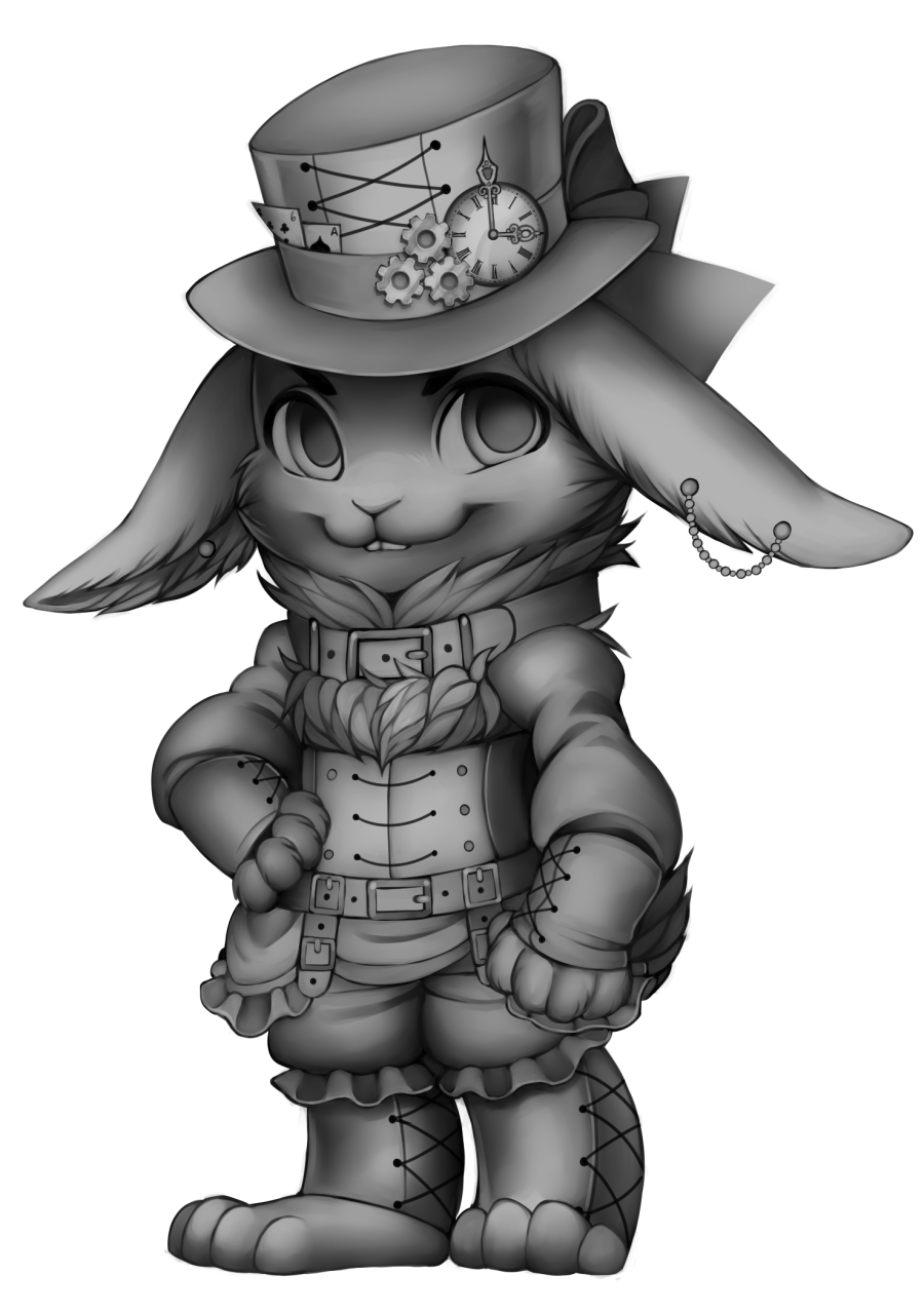 Drawing link steampunk. Furvilla olde foxbury rabbit
