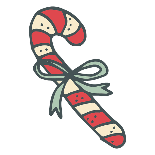 Cane transparent cartoon. Candycane hand drawn icon
