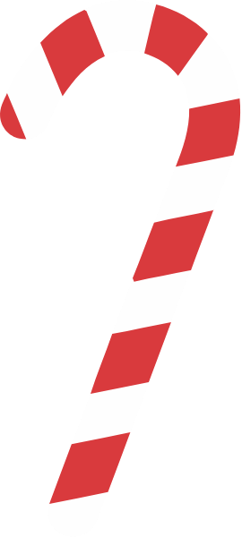 Vector stripe candy cane. Free online for design