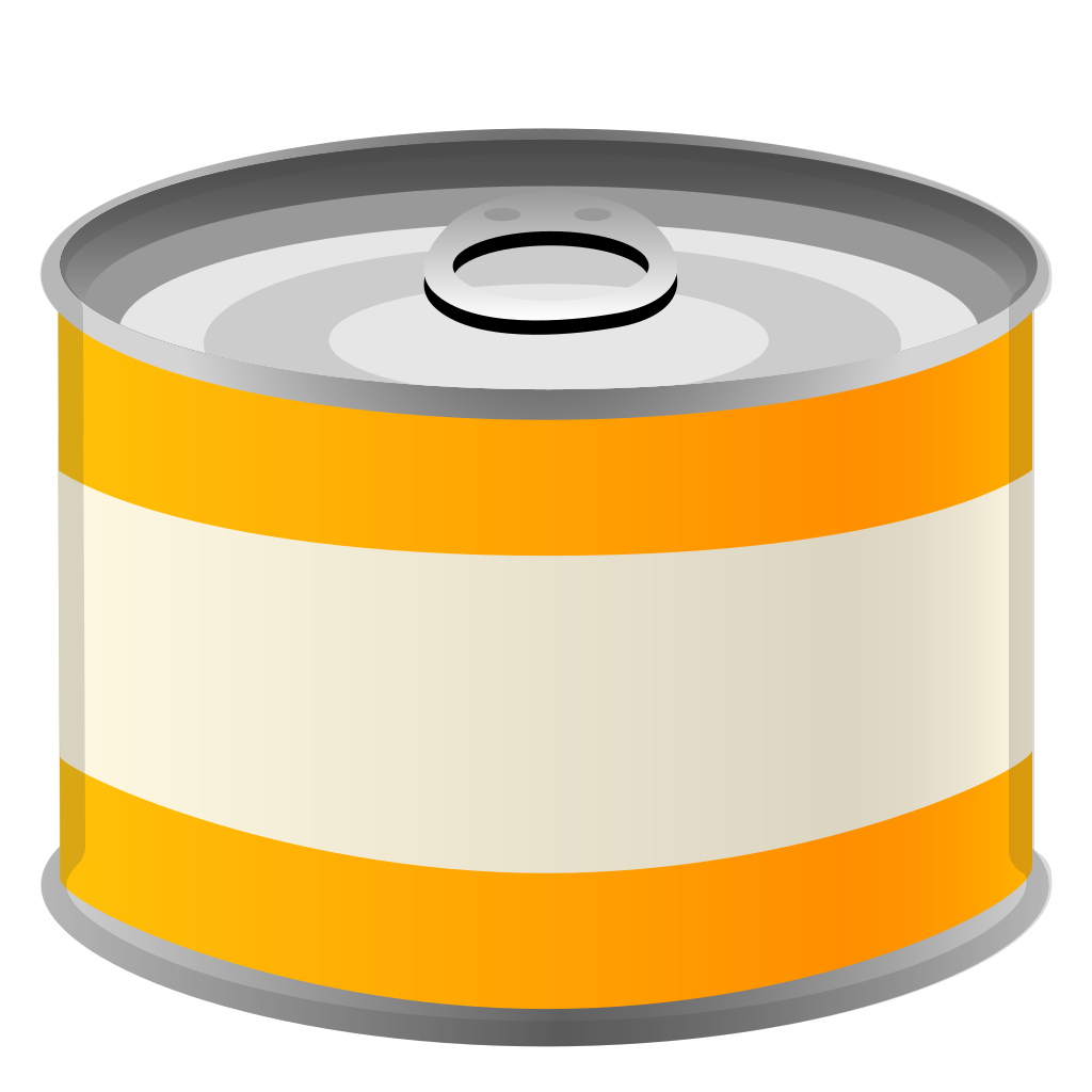 Canned food png. Icon noto emoji drink