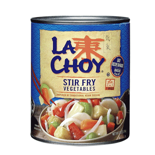 Canned vegetable labels png. Asian vegetables stir fry
