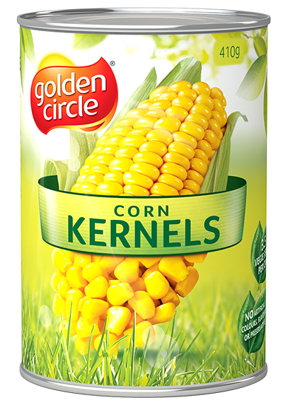 Canned vegetable labels png. Corn kernels vegetables golden