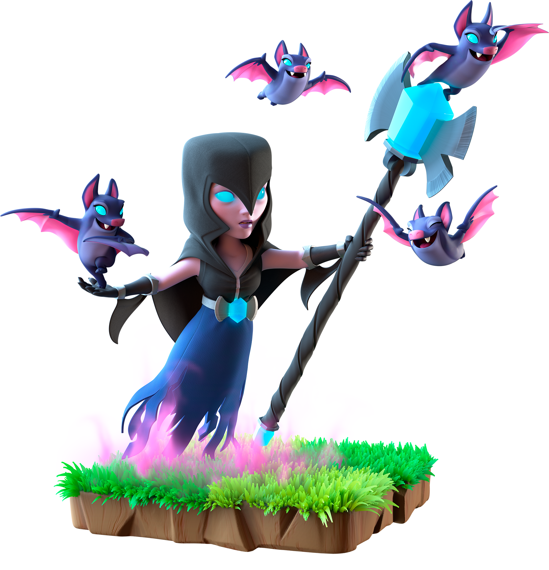 Clash royale witch png. Image night info of