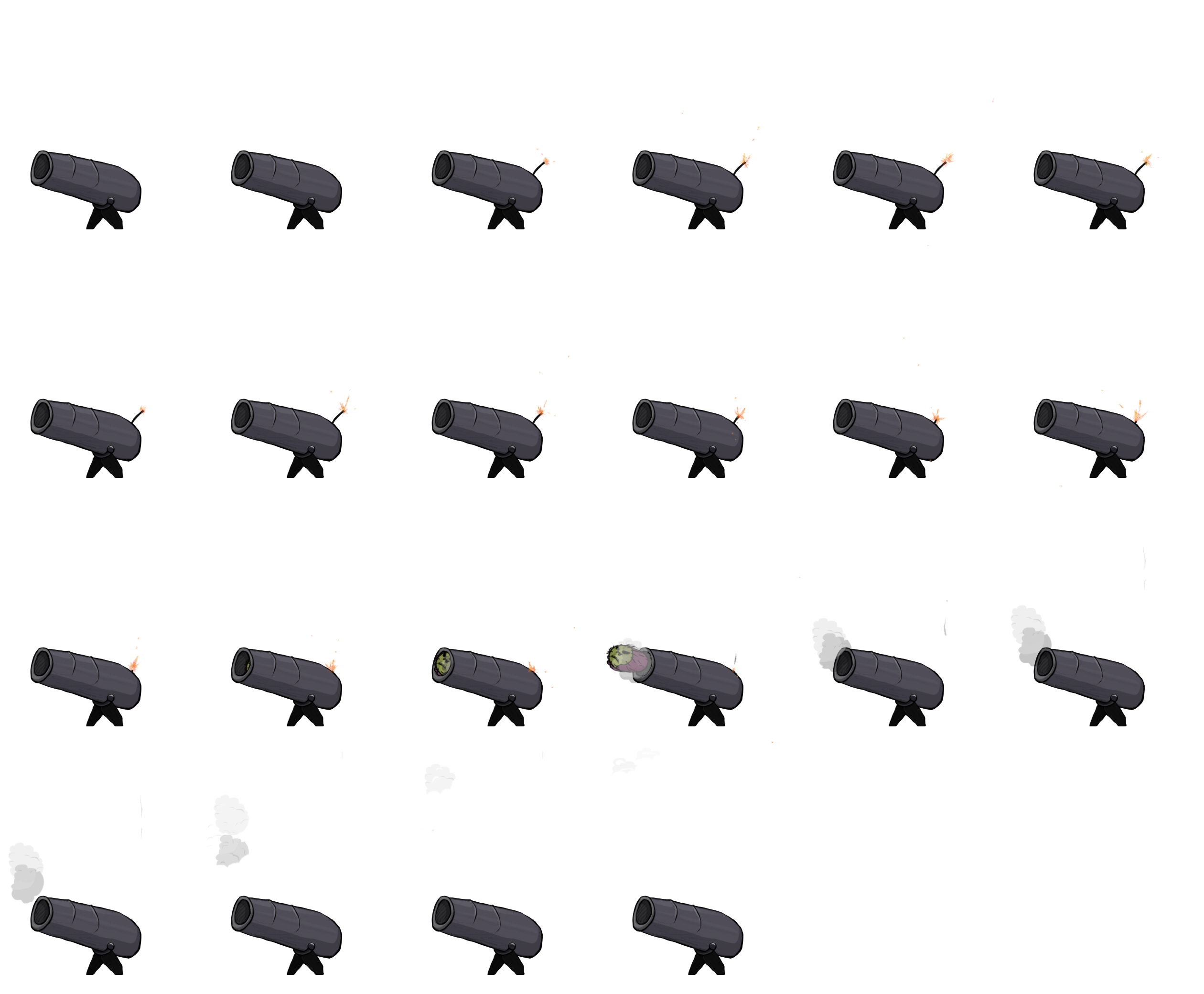 Cannon sprite png. Free game art download