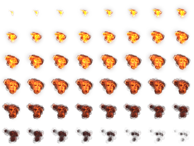 Explosion sprite sheet png. Fire image