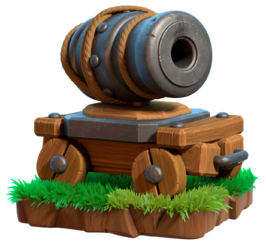 Clash royale cannon png. Cart of clans wiki