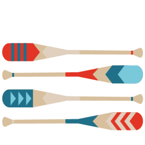 Canoe Paddles SVG scrapbook cut file cute clipart files for