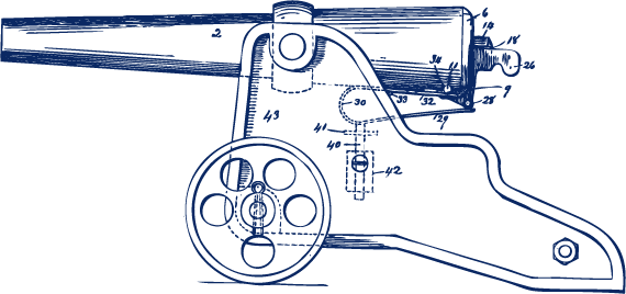 Winchester cannon history bellmore. Canon drawing technical image transparent