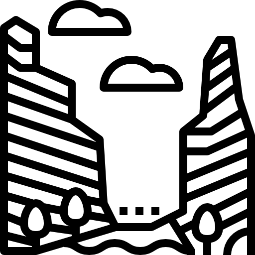 Canyon vector. Icon