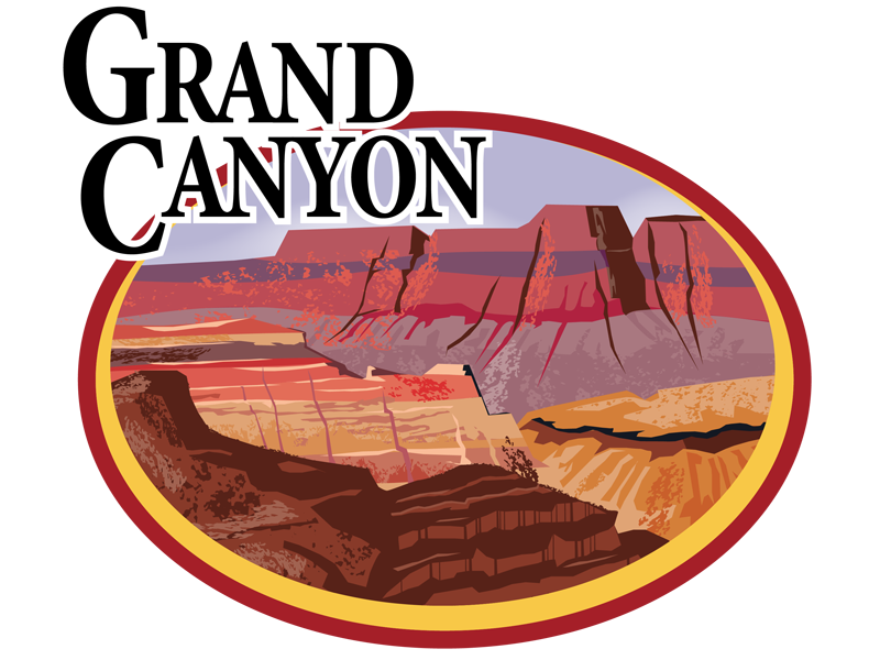 Canyon vector illustration. Grand encode clipart to