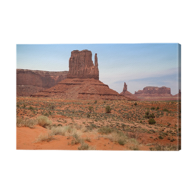 Canyon vector desert sky. Famous monument valley in