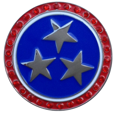 Cap clip ball marker. Patriotic stars hat with