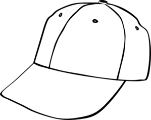 Cap clip hat outline. Baseball art at clker