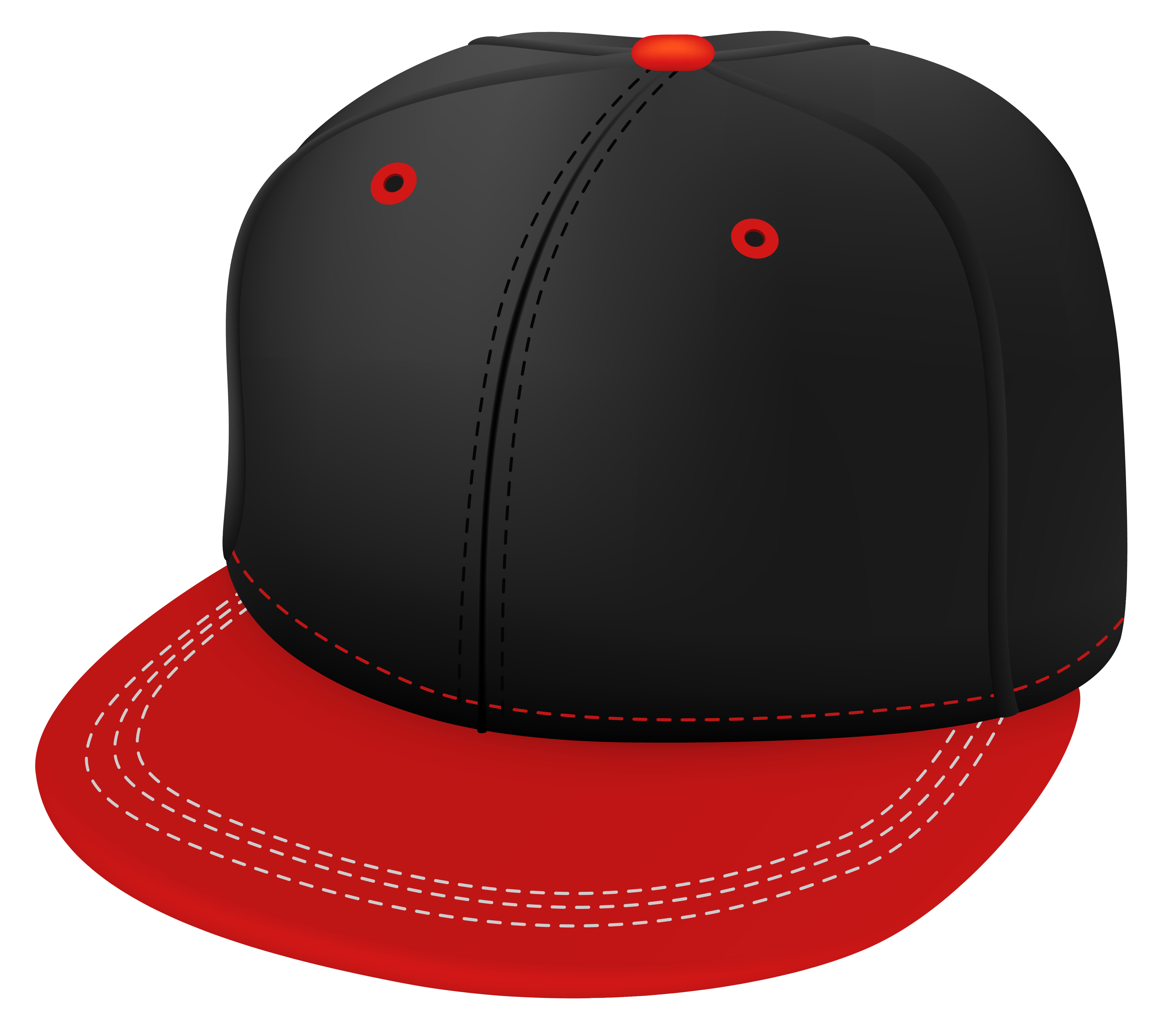 Dad cap png file. Red and black clipart