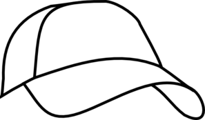 Cap clip black and white. While ball clipart