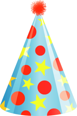 Cap clipart party. Birthday hat cilpart inspirational