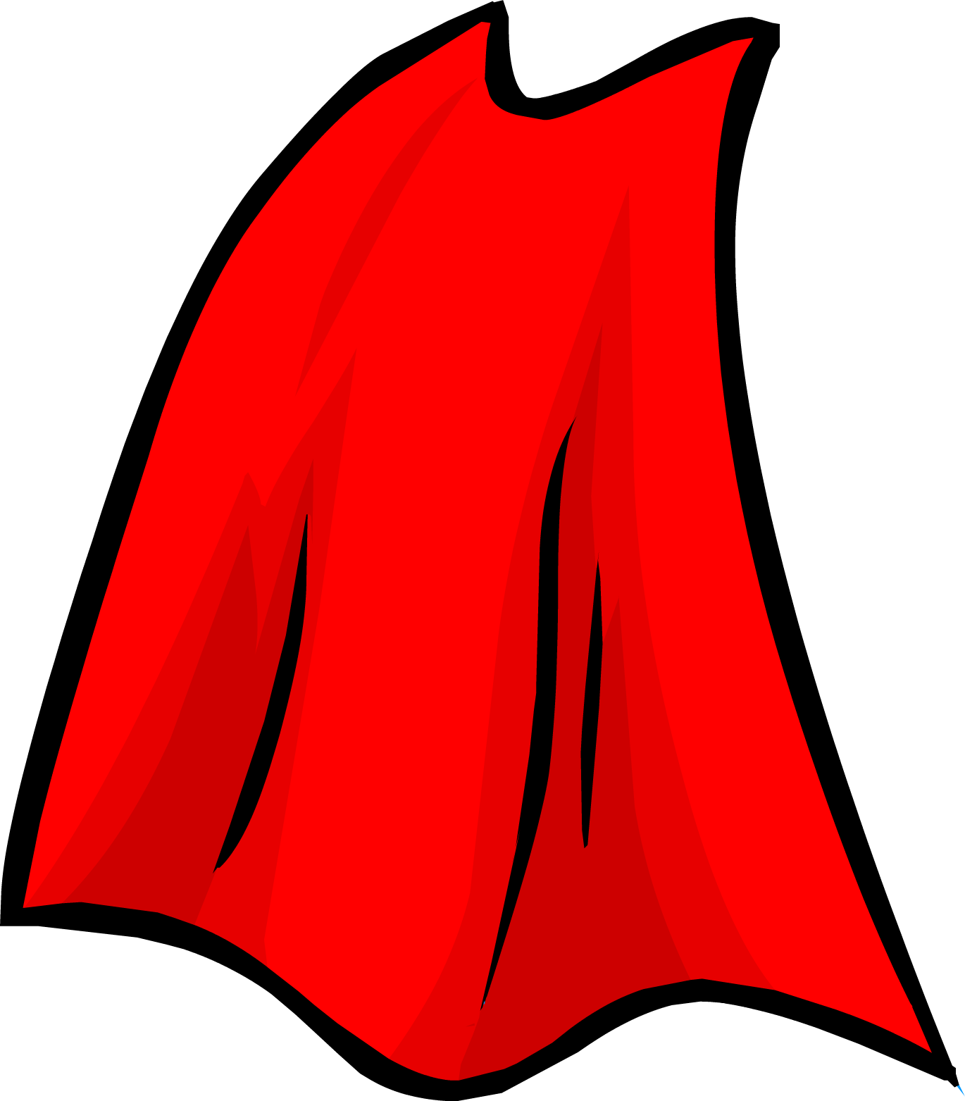 drawing capes red cloak