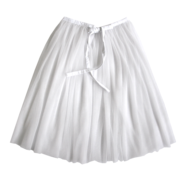 Transparent skirts white. Minouche tulle skirt with