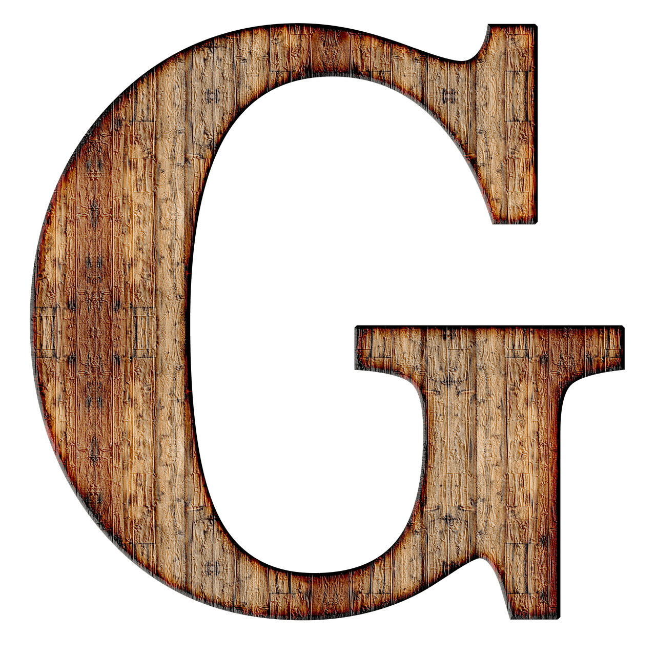 Capital letter g png. Wooden transparent stickpng download