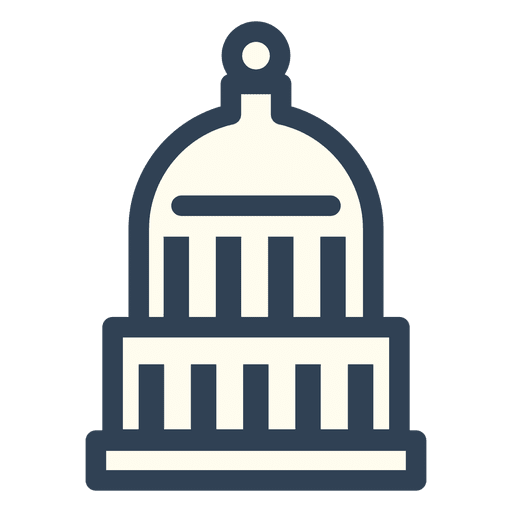 Washington vector united states capitol. Usa stroke icon transparent