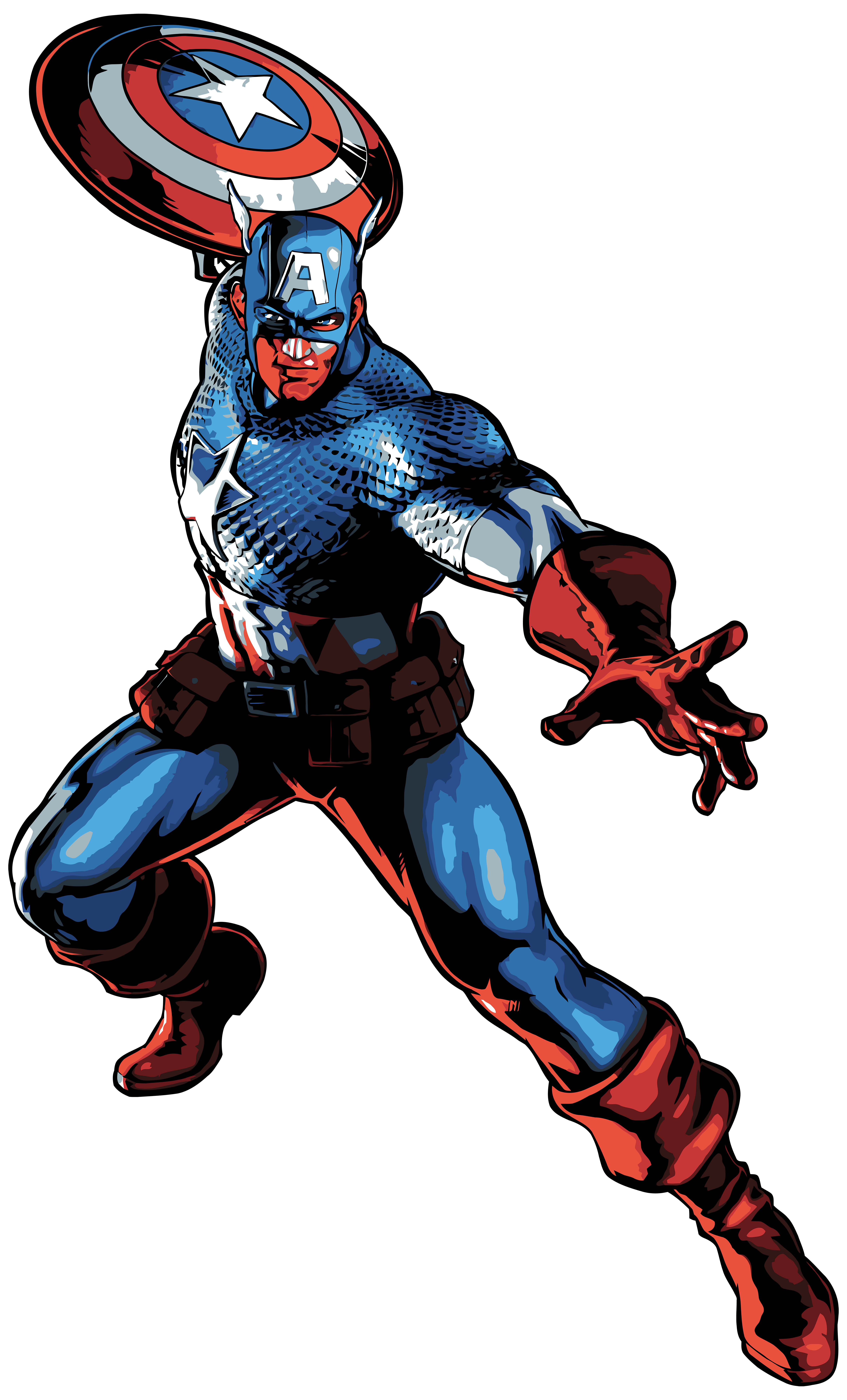 Captain america cartoon png. Clip art image gallery