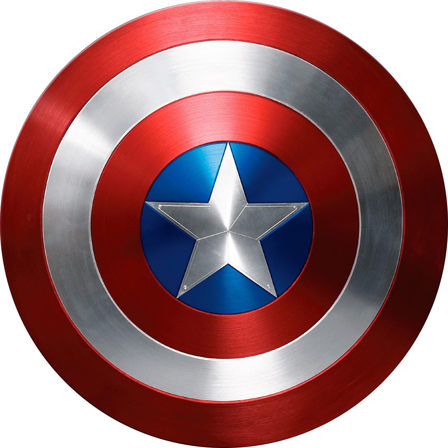 Captain america civil war logo png. Transparent stickpng photorealistic shield