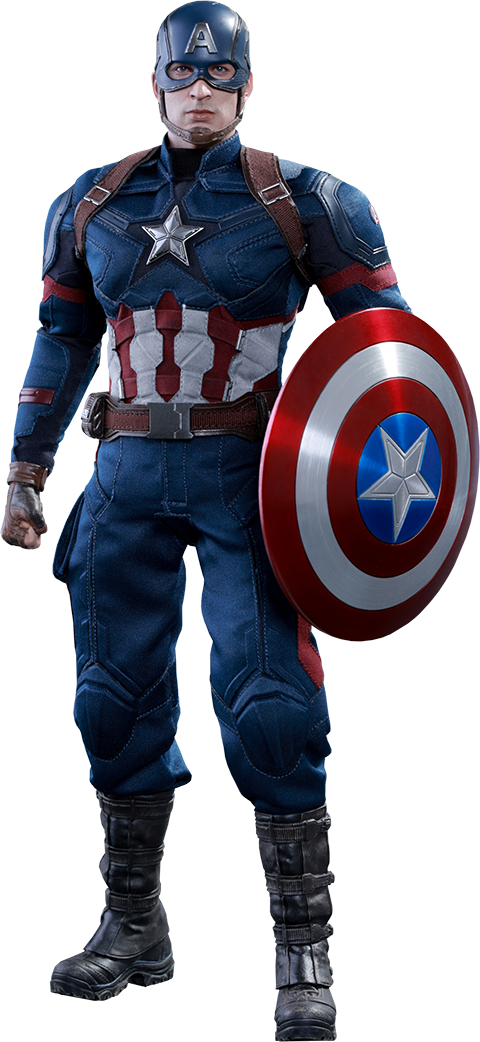 Captain america civil war png. Figure by hot toys