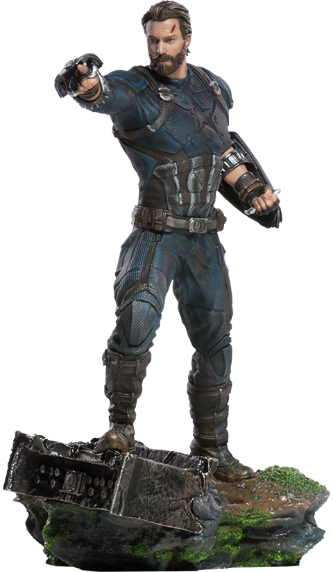Captain america infinity war png. Marvel statue by iron
