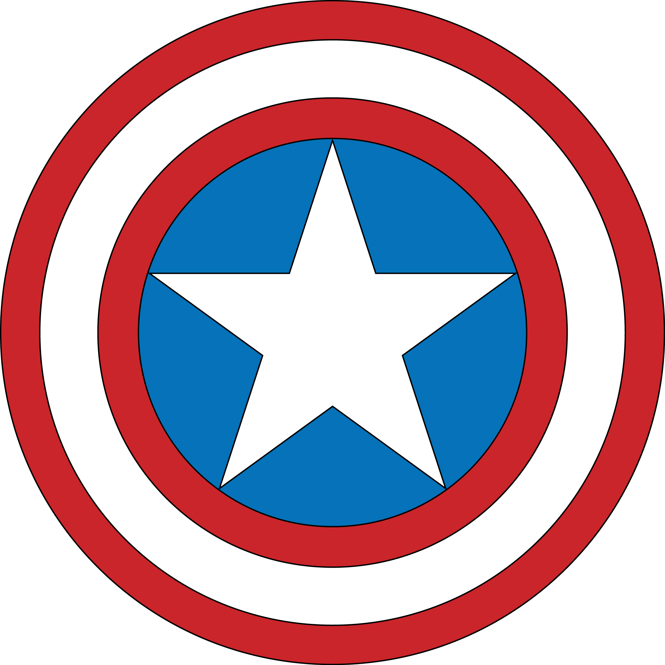 captain america star png