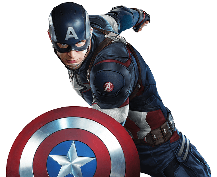 Captain america png. Close up transparent stickpng