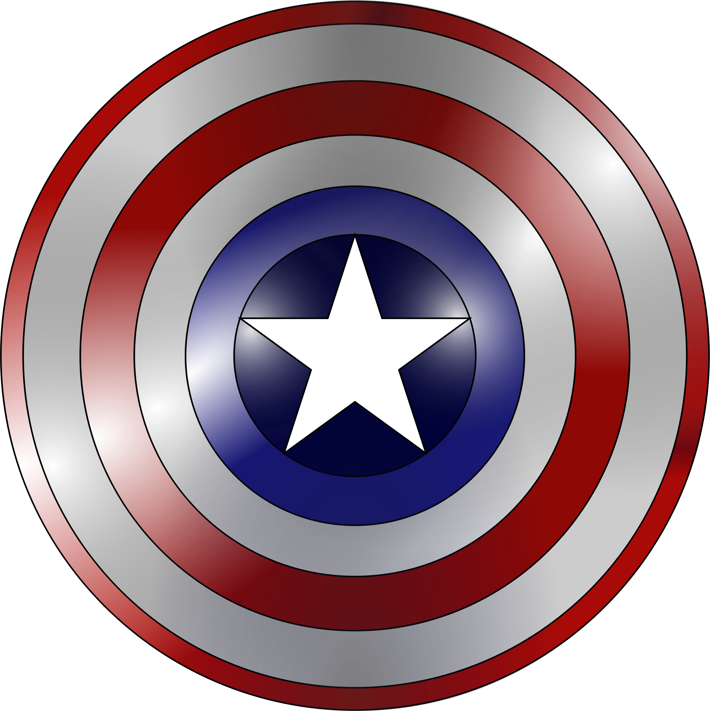 Captain america shield .png. Metal base icons png