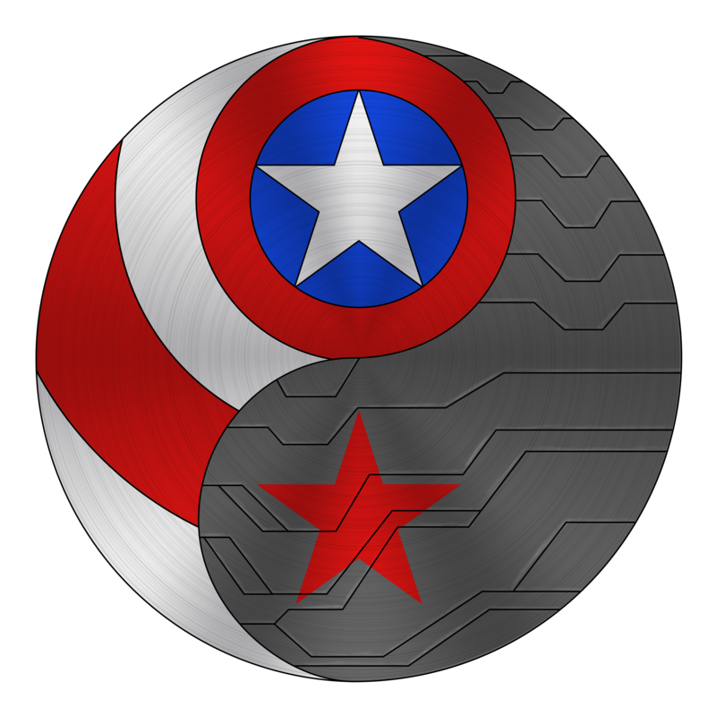 Captain america winter soldier logo png. Ying yang by kristalstittle