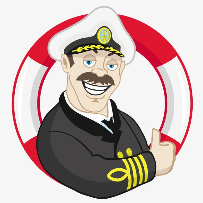 Lifebuoy men png image. Captain clipart cartoon vector freeuse