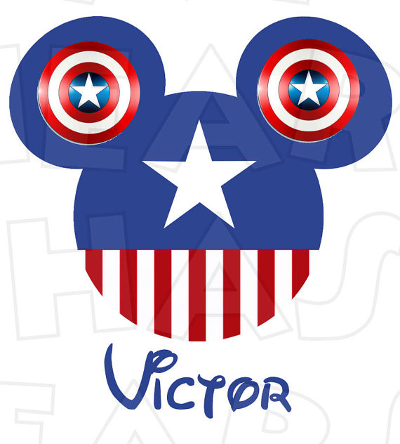 America head ears digital. Captain clipart mickey mouse jpg royalty free download
