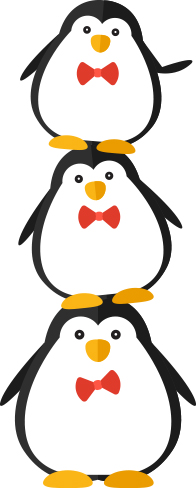 The poppers and penguins. Captain clipart penguin picture free