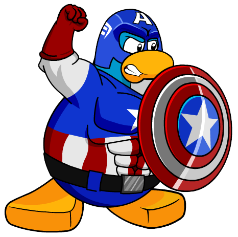 Free superhero cliparts download. Captain clipart penguin png library library