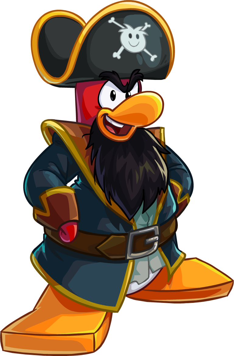 Captain clipart penguin. Rockhopper club wiki fandom