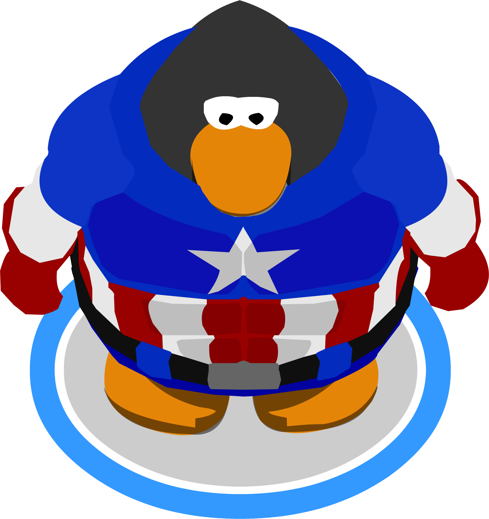 Image america bodysuit ingame. Captain clipart penguin vector library library