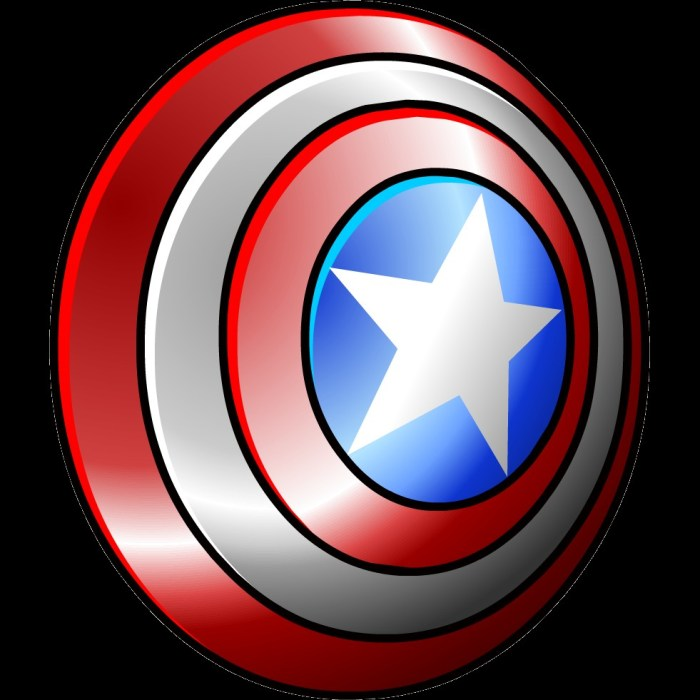 Captain clipart penguin. America shield best of