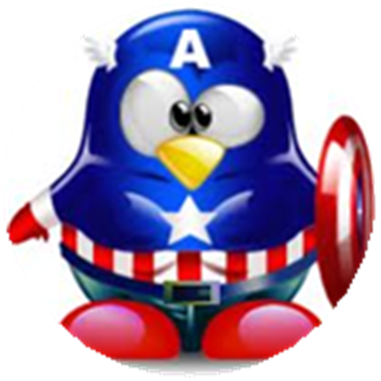 Captain clipart penguin. America roblox