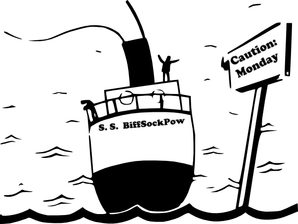 Captain clipart ship drawing. S log monday biff