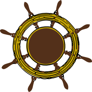 Steering clip art at. Captain clipart ship wheel jpg library