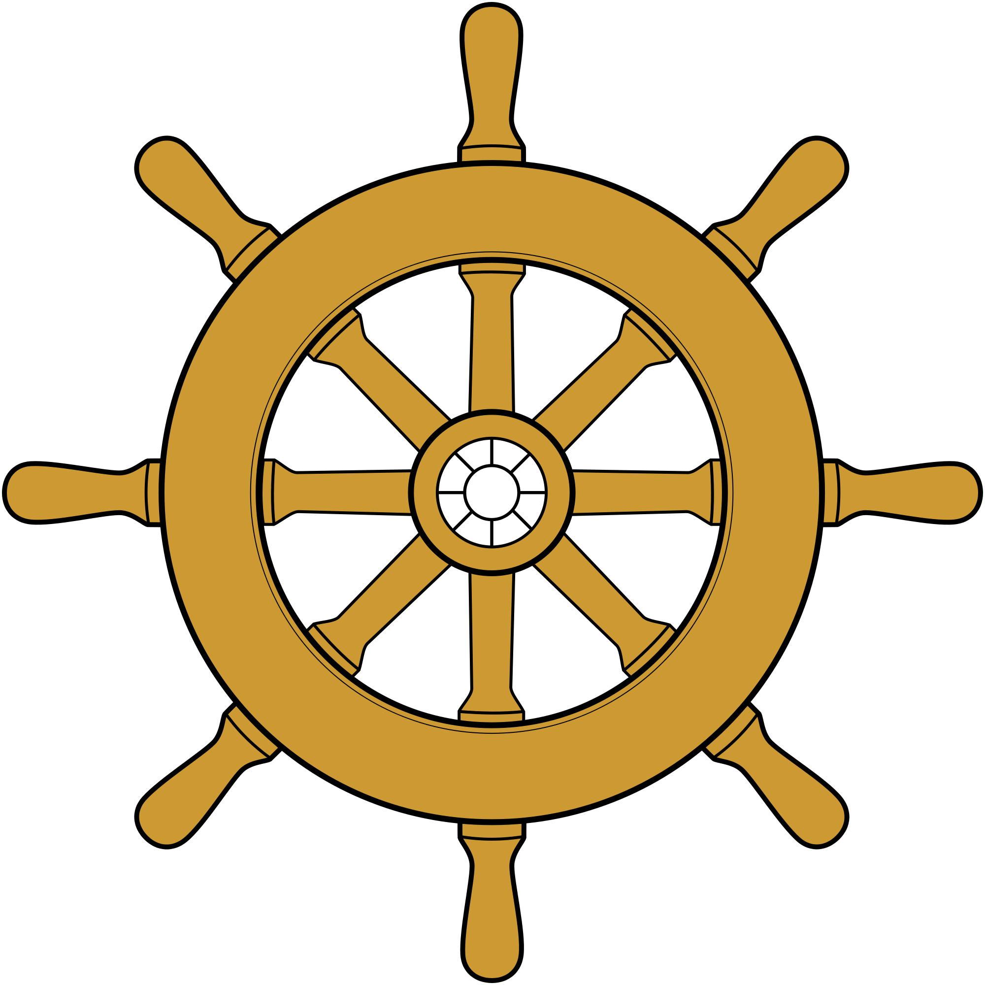Captain clipart ship wheel. File steering svg wikimedia