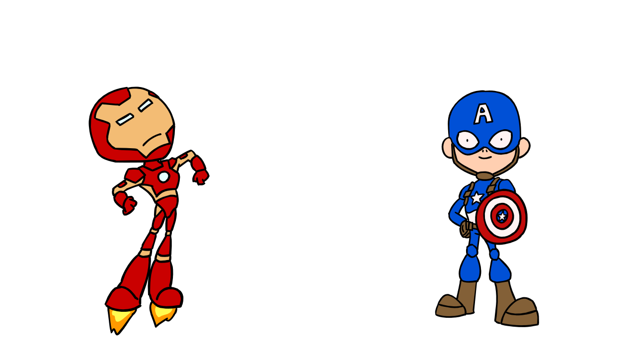 Daily iron man and. Drawing marvel captain america vector library download