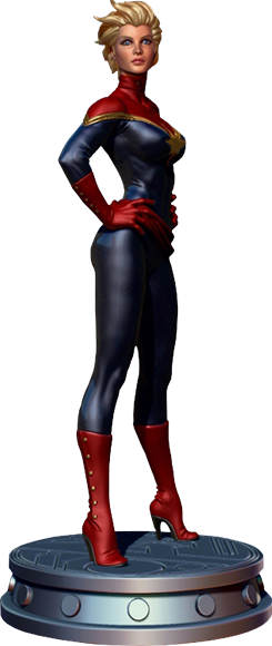 Captain marvel carol png. Danvers polystone statue by